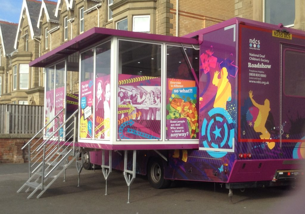 The NDCS Listening Bus visited school